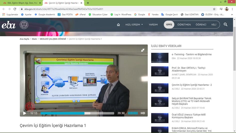 Çevrimiçi Eğitim İçeriği Hazırlama